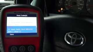 Autel MD802 Finds Toyota Engine Light Faults