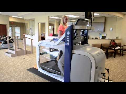 The AlterG Anti-Gravity Treadmill demonstration at JCH