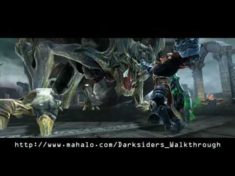 Darksiders Walkthrough - Twilight Cathedral Boss Fight: Tiamat