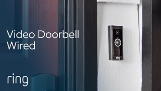 Ring Video Doorbell Wired, All The Essentials In a Slimmed-Down Design | Home Security Made Simple
