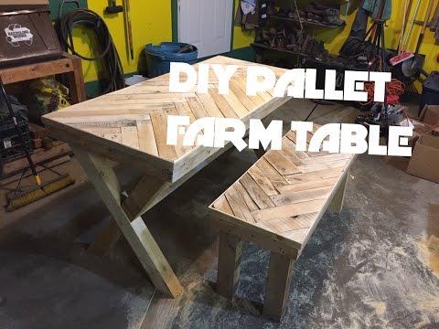 DIY Herring Bone/Chevron Patterned Farm Table Build!