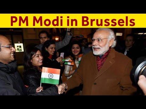 PM Narendra Modi Arrives In Brussels To Attend India-EU Summit