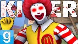 KILLER RONALD MCDONALD ATTACKS KRUSTY KRAB?! | Gmod Sandbox Fun (McDonalds vs The Krusty Krab)