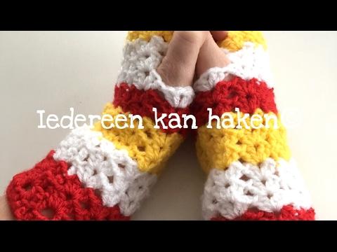 Iedereen Kan Haken Irissteek Haken Handwarmers Deel 2 Nederlands