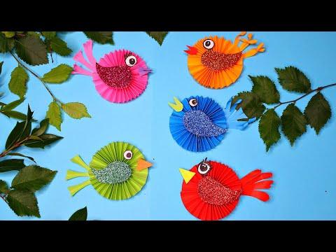 Поделки птицы из бумаги своими руками для детей