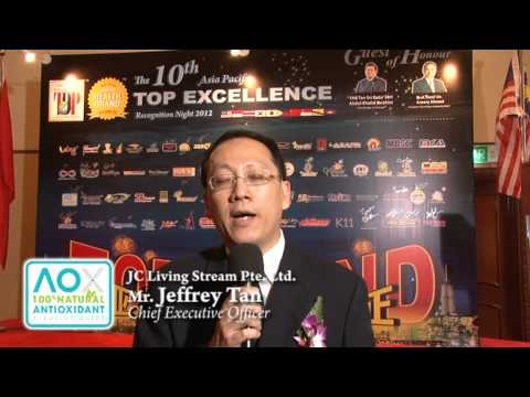 JC Living Stream Pte Ltd - 10th Asia Pacific Excellence Brand International Certification Winners
