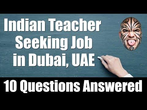 Indian Teacher Seeking Job in Dubai, UAE - 10 Questions Answered thumbnail