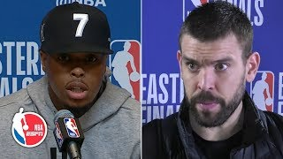 Kyle Lowry blames defense, Marc Gasol says he 'played really bad' in Game 2 | 2019 NBA Playoffs