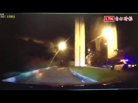 竹縣警車逆向狂飆撞橋墩 2警輕傷