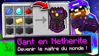 Minecraft MAIS je peux craft le gant CHEAT en netherite !
