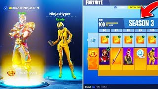 "SEASON 3 Tier 100 ""MAX BATTLE PASS"" SHOWCASE in FORTNITE! - NEW FREE SKINS FORTNITE BATTLE ROYALE!"