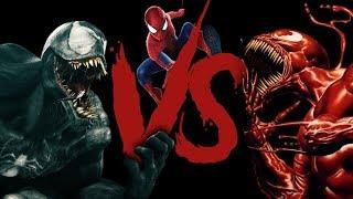 Venom Vs Spiderman Vs Carnage Rap Battle (Marvel Comics) | Daddyphatsnaps