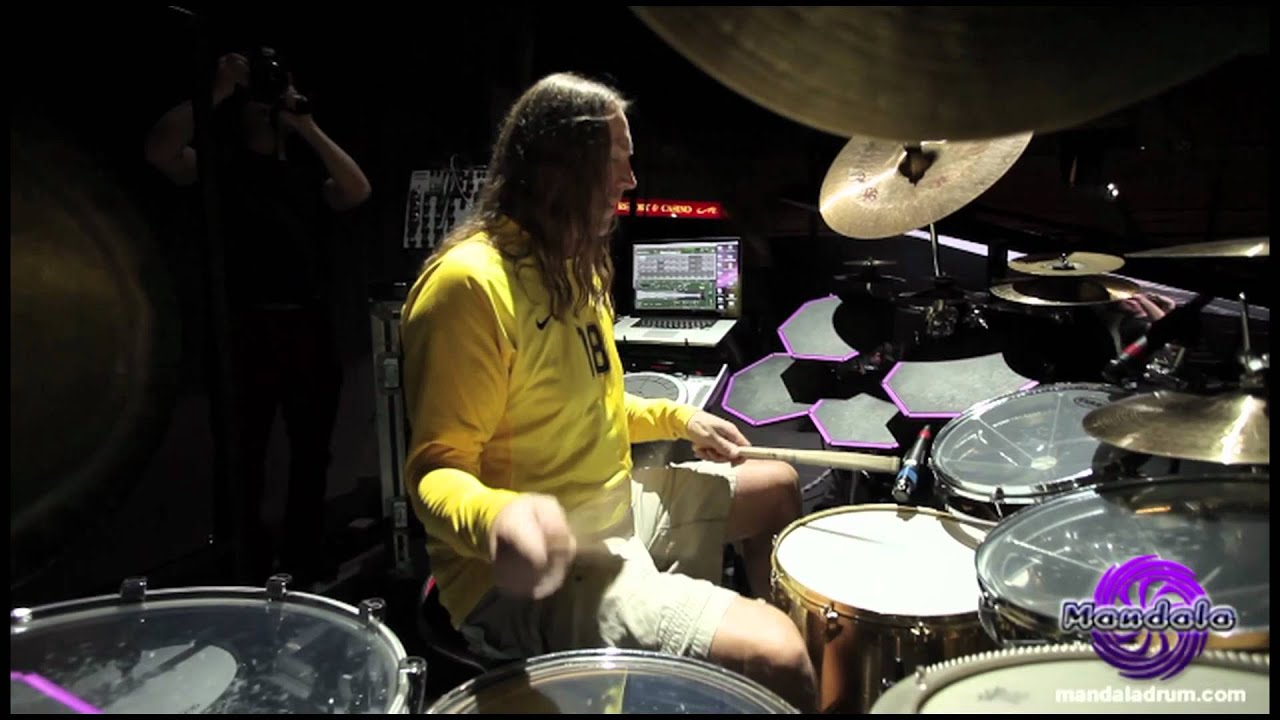 Danny Carey Of Tool Playing 7 Mandala Drums Youtube