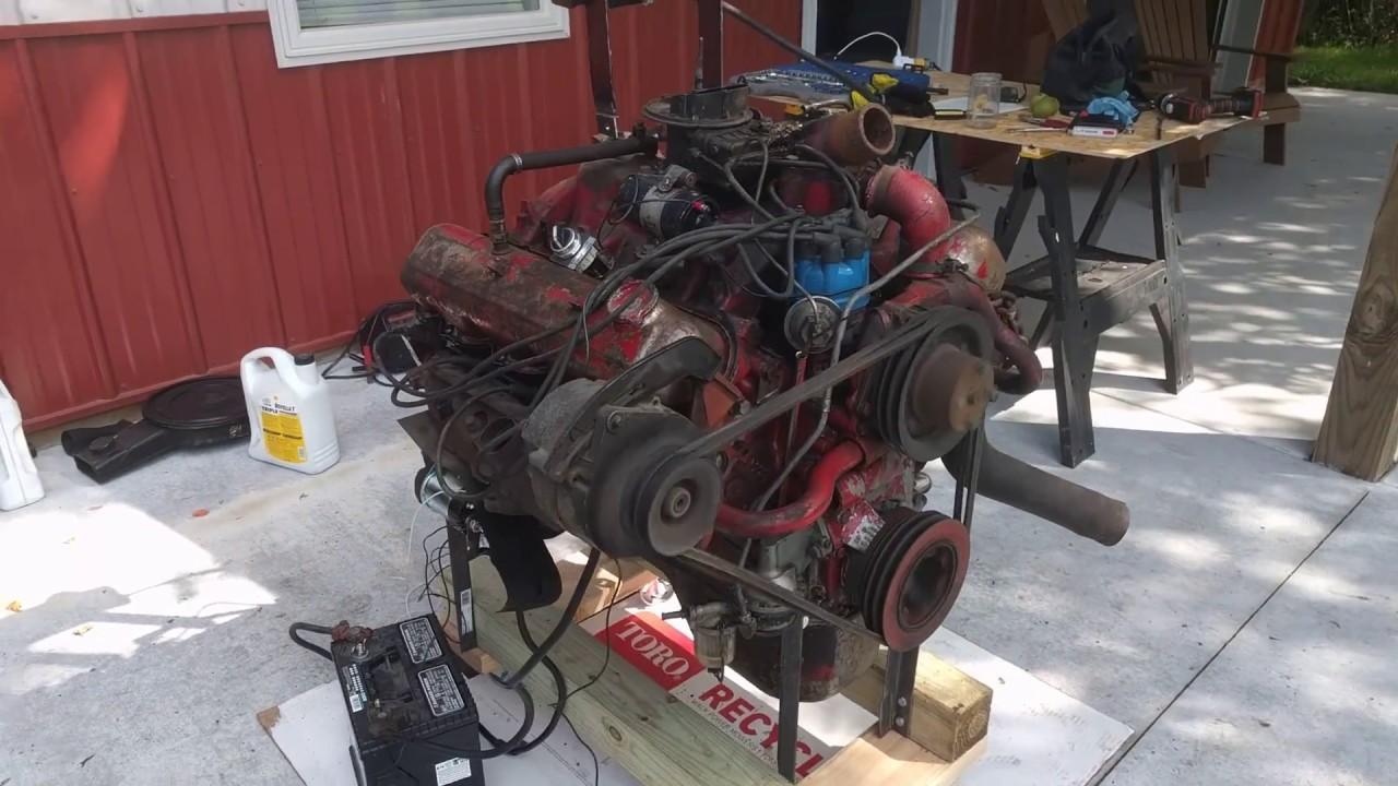 Test run of an International Harvester 345 V8 - First try
