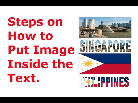 Steps on How to Put Image Inside the Text in Microsoft Word