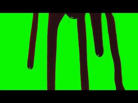 5 Blood Drip Run HD Green Screen Effects