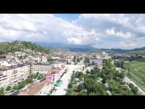Berat, Albania  - Drone View