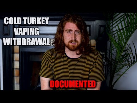 Cold Turkey Nicotine Withdrawal Documented | From 6mg/ml to 0mg/ml