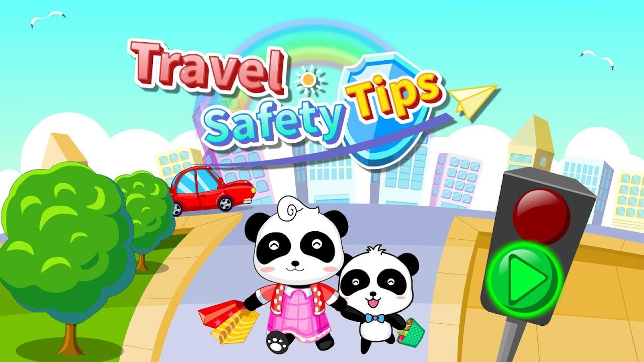travel safety tips for kids u0026 baby panda games for kids u0026 traffic