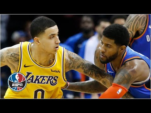 Kyle Kuzma, Lakers top Russell Westbrook, Paul George and Thunder in overtime | NBA Highlights