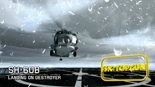 FSX Sikorsky SH-60B Seahawk landing on Arleigh Burke-class destroyer