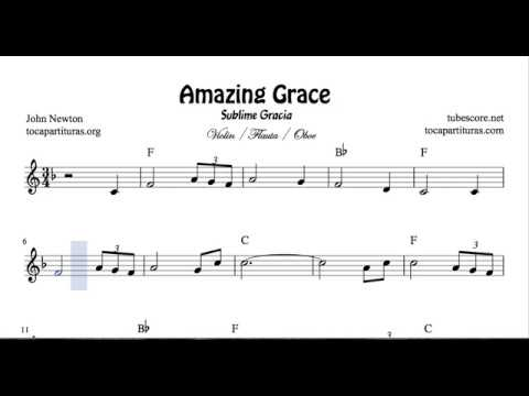 Amazing Grace Sheet Music for Flute Violin and Oboe Sublime Gracia Partitura