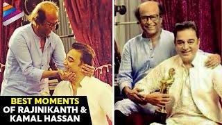 Rajinikanth and Kamal Haasan Best Moments   Vikatan 2016 Tamil Movie Awards   Telugu Filmnagar