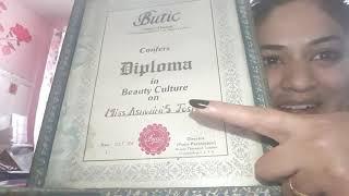 My diploma certificates