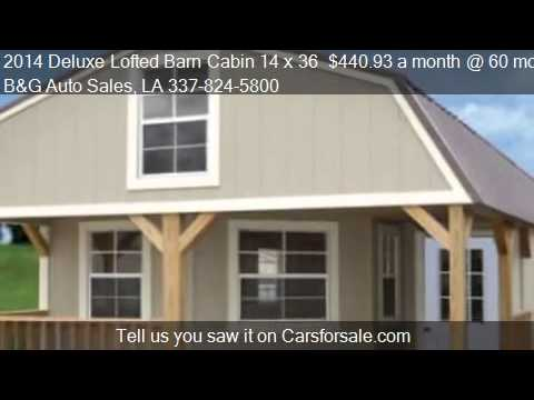 2014 Deluxe Lofted Barn Cabin 14 x 36  440 93 a month   60   YouTube 2014 Deluxe Lofted Barn Cabin 14 x 36  440 93 a month   60