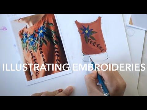 Fashion Illustration Tutorial: Embroidery