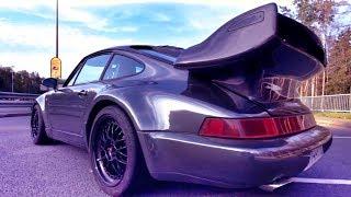 Капот ОТКРЫЛСЯ НА СКОРОСТИ (!!) + Оставлять ЧЕРНЫЙ ХРОМ? Проект PORSCHE 911 Turbo (964) Белая Бестия