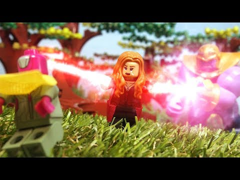 Lego Avengers Infinity War Scarlet Witch Destroys Mind Stone thumbnail