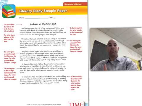 Literary essay unit 4th grade