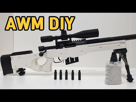 HOW TO MAKE SHELL EJECTING GUN : DIY AWM AIRSOFT