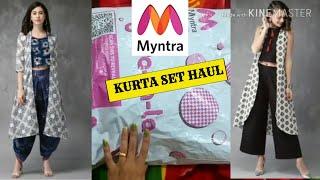 MYNTRA KURTA SET HAUL 2019|MYNTRA FESTIVE KURTI PALAZO SET HAUL|MYNTRA LATEST KURTI HAUL