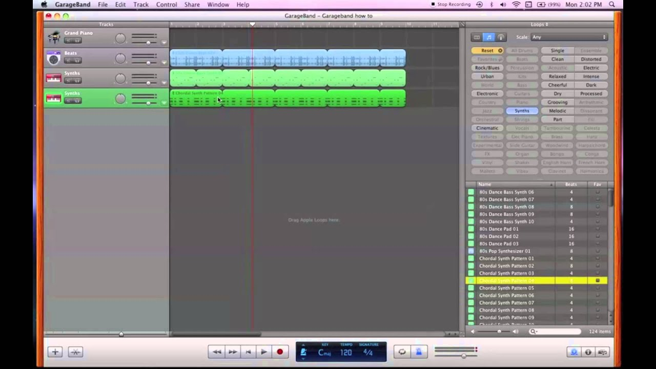 How to make music with garageband loops