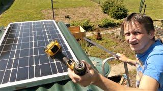 Die Solaranlage Wird In Die Gartenlaube Eingebaut Endlich Spielt Das Wetter Mit Youtube