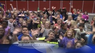 Rob Fowler visits Cane Bay Elementary School for Weather 101