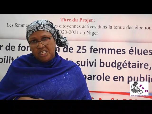 Mme Aminatou : Atelier de formation de 25 femmes élues