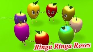 Ringa Ringa Roses 3D Nursery Rhyme with Lyrics For Kids