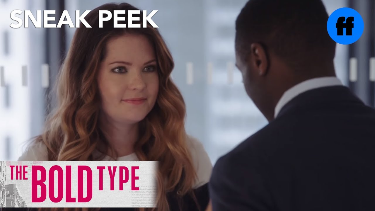 the bold type season 1 episode 3 sneak peek sutton learns there 39 s a job in fashion freeform. Black Bedroom Furniture Sets. Home Design Ideas