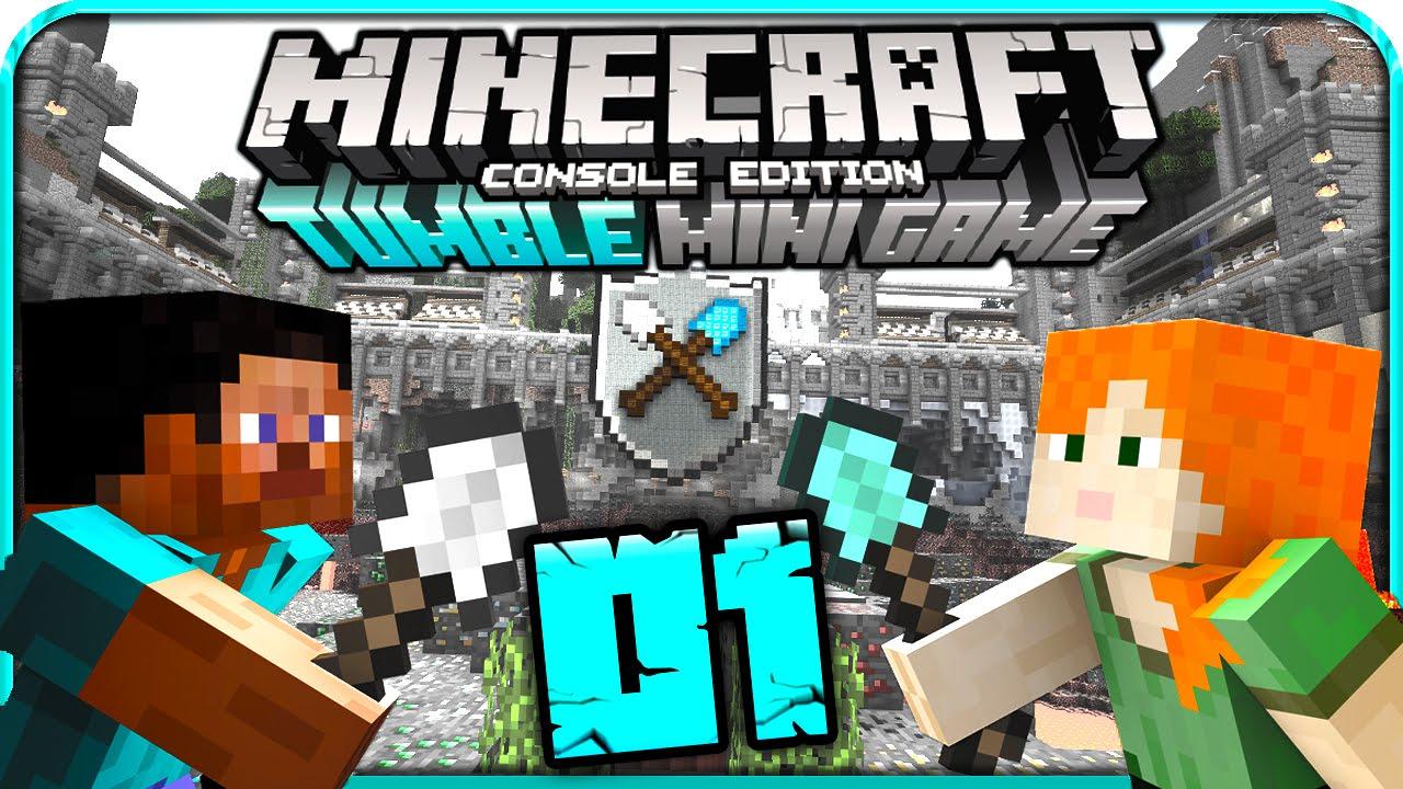 Lets Play MINECRAFT TUMBLE MINI GAME Part Gegner Werden - Minecraft nutzliche spielerkopfe