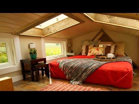 48 Tiny Houses (Micro Loft Bedroom Designs)