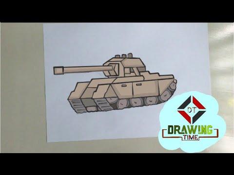 Cok Kolay Tank Cizimi How To Draw Tank Kak Narisovat Tank