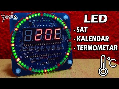Kako sastaviti sat od LED dioda ( DIY DS1302 )