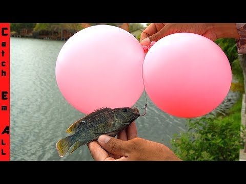 BALLOON FISHING! **Trick To Catch GIANT POND FISH**