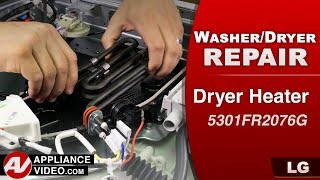 LG Washer Dryer Combo unit - Dryer Heater diagnostic & Replacement