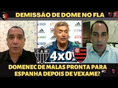 DEMISSÃO DE DOMENEC NO FLAMENGO | ATLETICO-MG 4X0 FLAMENGO | GABIGOL PISTOLA !