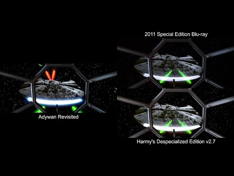 TIE Fighter Attack - STAR WARS Revisited Comparison (Revisited, Blu-ray, DeEd)