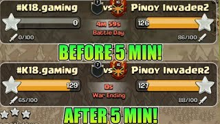 NEW WORLD RECORD? 131 STAR IN LAST 5MIN | TROJAN HORSE WAR | CLASH OF CLANS